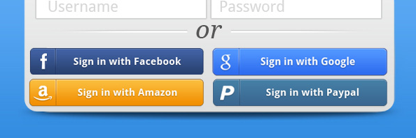 Social login buttons example