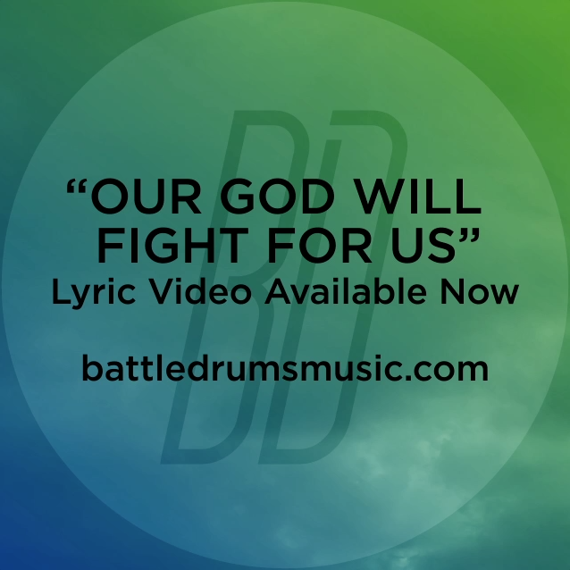 "Did you see Battle Drums' ""Our God Will Fight for Us"" lyric video yet? The War Is Over drops July 3. #thewarisoverb"