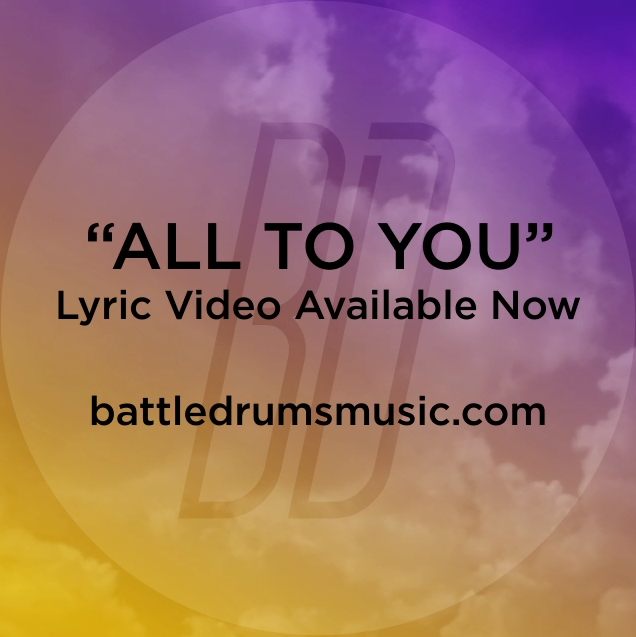 "Did you see Battle Drums' ""All to You (feat Aaron Gillespie)"" lyric video yet? The War Is Over drops July 3. #thewarisoverb"