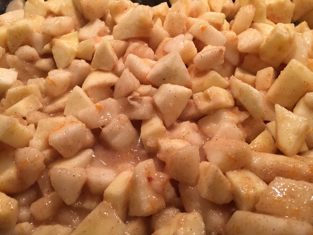 cut apples and pears