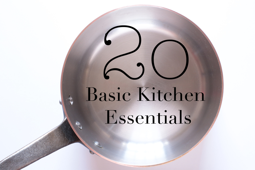 20 Basic Kitchen Essentials