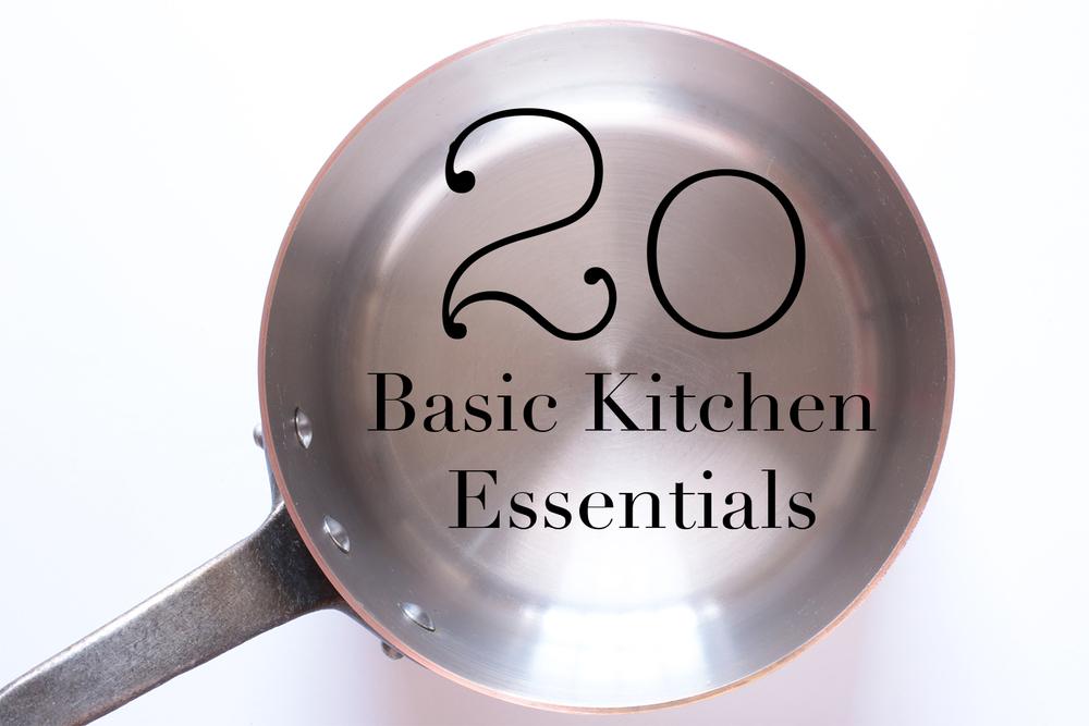 20 Basic Kitchen Essentials
