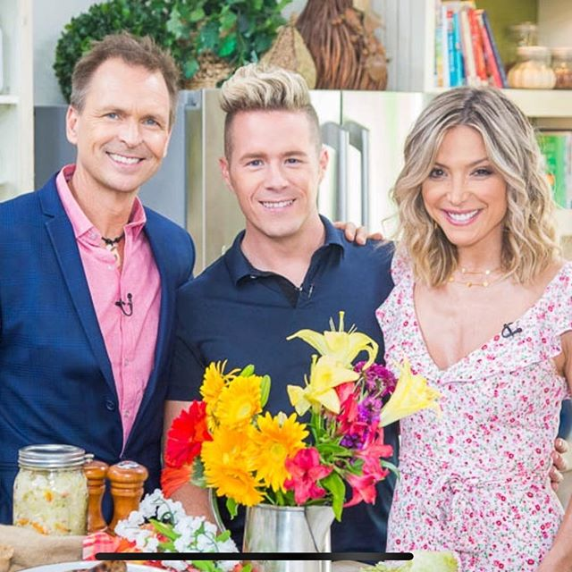 If you are interested in seeing how to make your own probiotic rich #sauerkraut check out my segment on @homeandfamilytv today at 10a/9c I will show you all the basics! (And can we talk about how good @iamdebbiem 's hair is?!) #fermentation