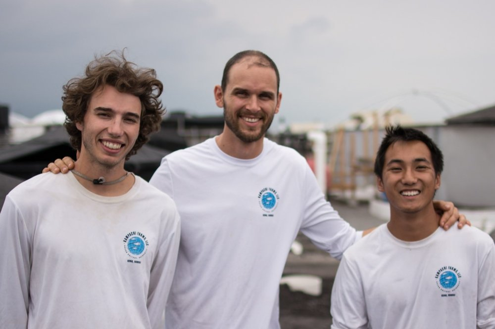 From left to right: Travis Burroughs (intern), Julien Stevens (internship coordinator), and C.J. Chao (intern).