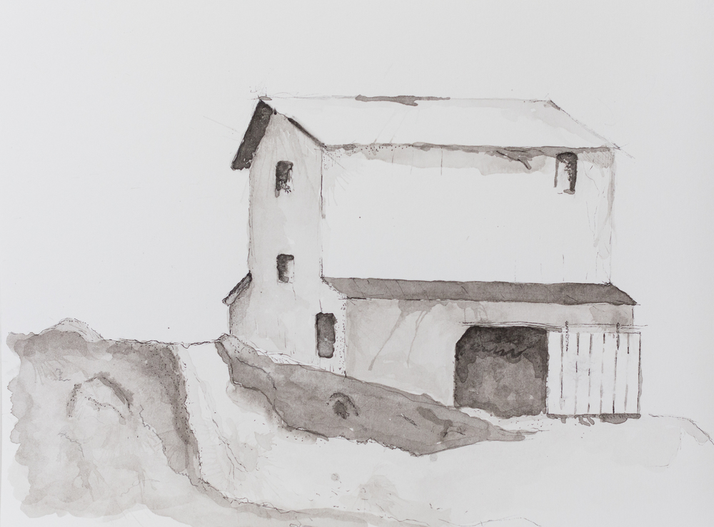 Just a barn - Pen & Ink