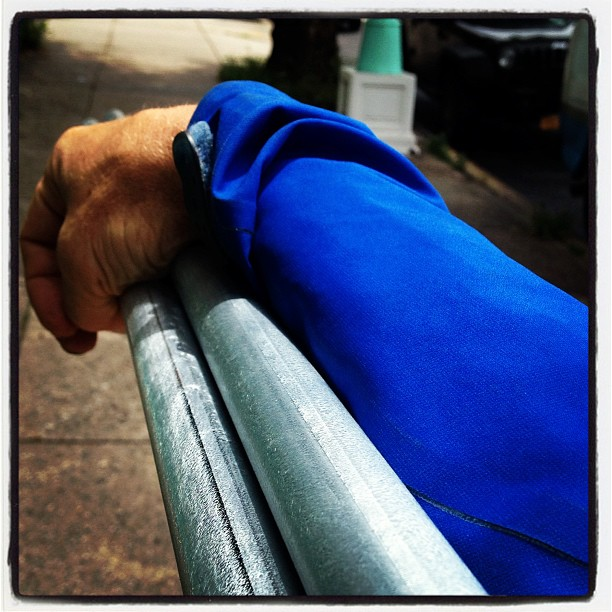 Walking my tubing back home. #archimedesdsgn #maker #burningman #brooklyn
