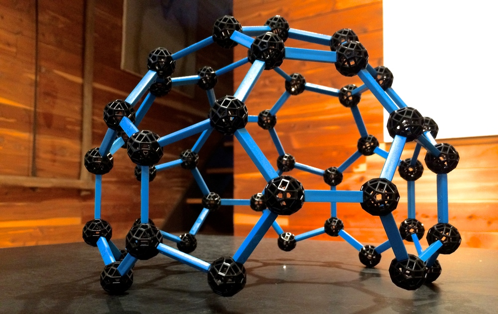 20 facet, bi-lateral, truncated icosahedron.
