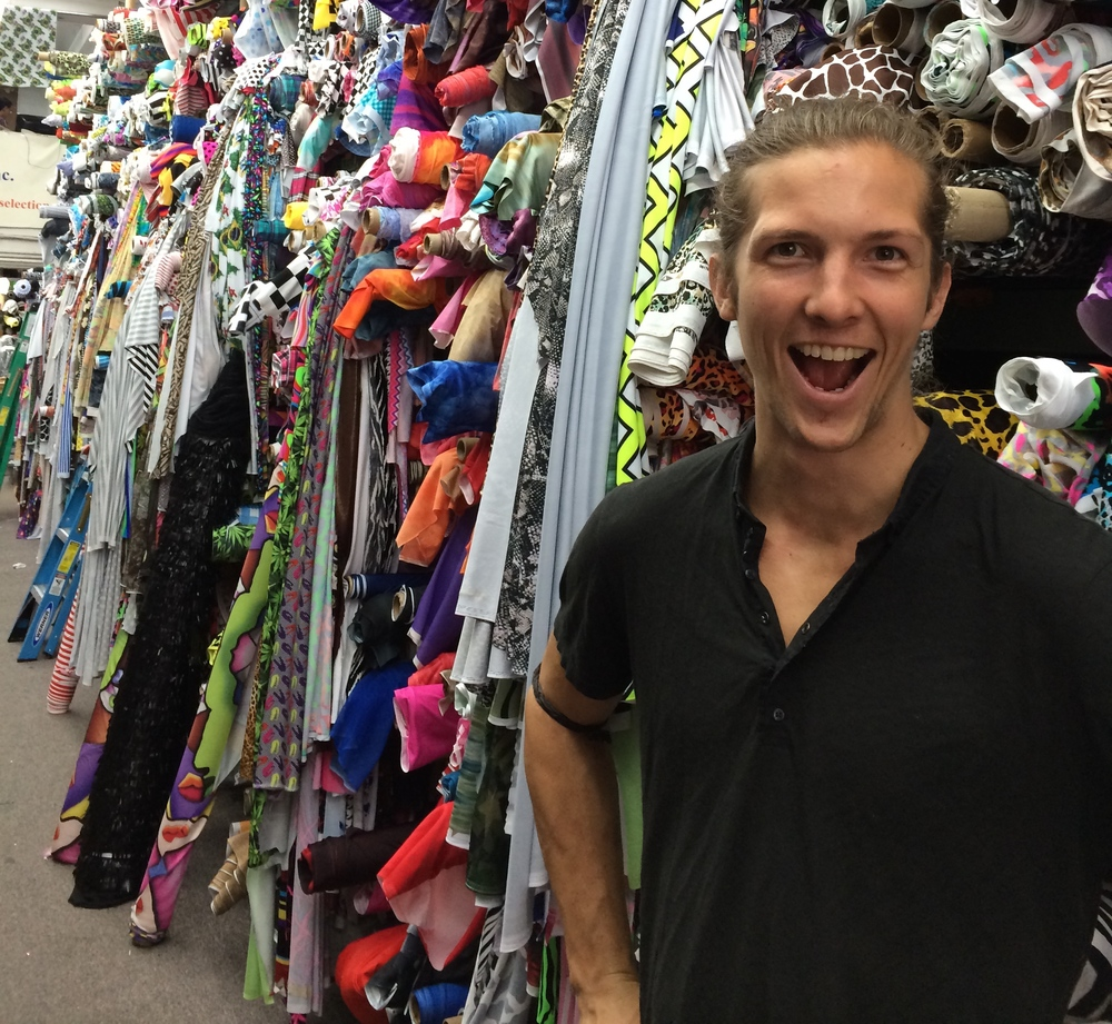 Rasmus overwhelmed by options on his first trip to Spandex House in New York.