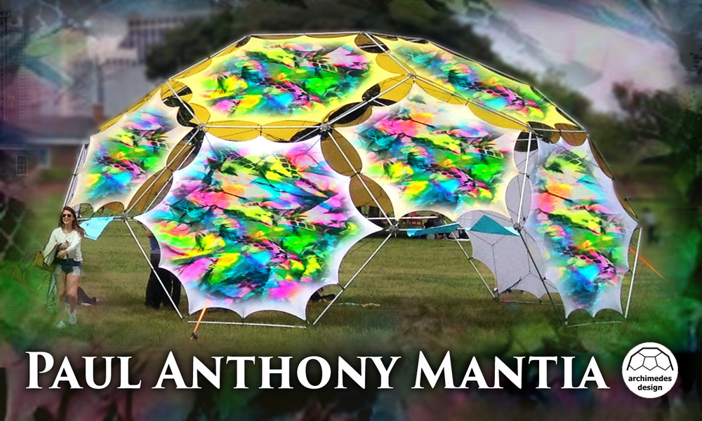 Paul Anthony Mantia will be creating the outer tent for the Archimedes Black Light Temple at Gratitude Migration 2016.