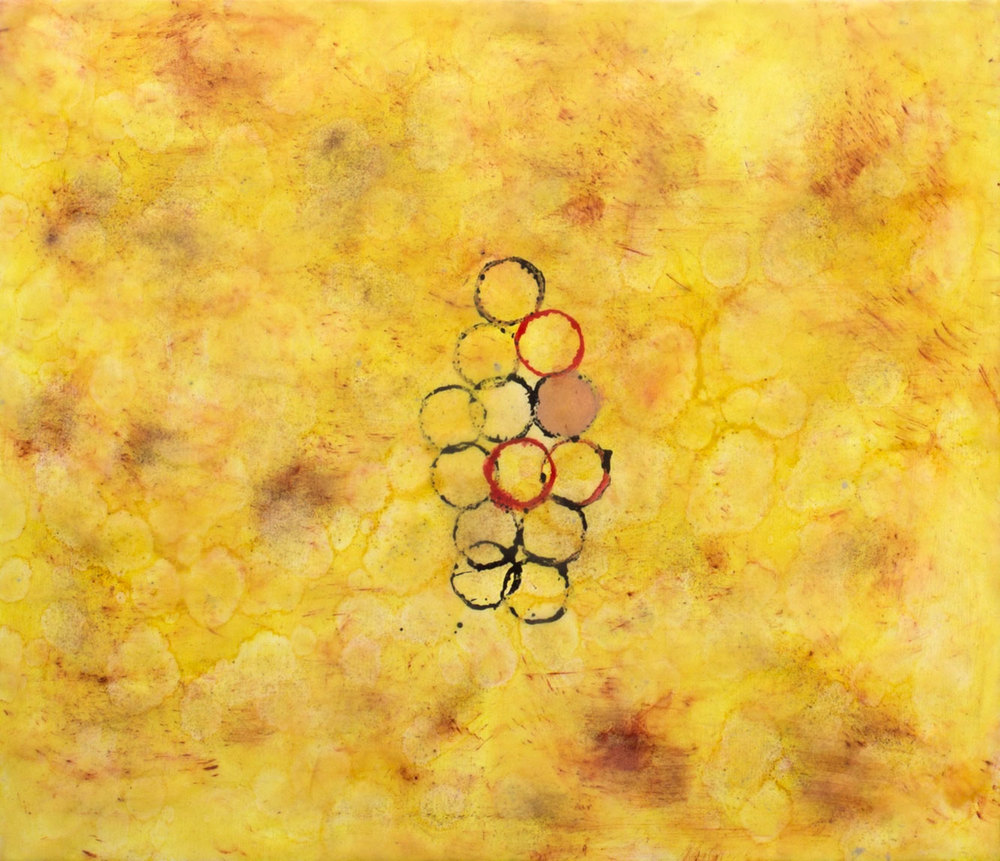 """Cluster"", encaustic painting on panel, 21"" x 24"" © Tom Gormally"
