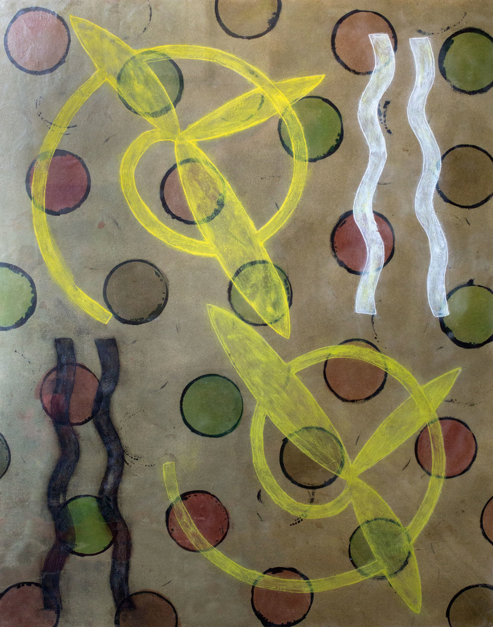 """Notes From Kells"", encaustic painting on panel, 45"" x 37"" © Tom Gormally"