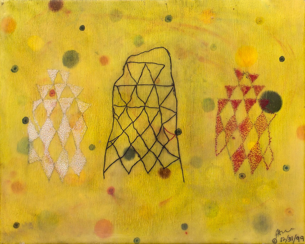 """La Celebration"", encaustic painting on panel, 16"" x 20"" © Tom Gormally"