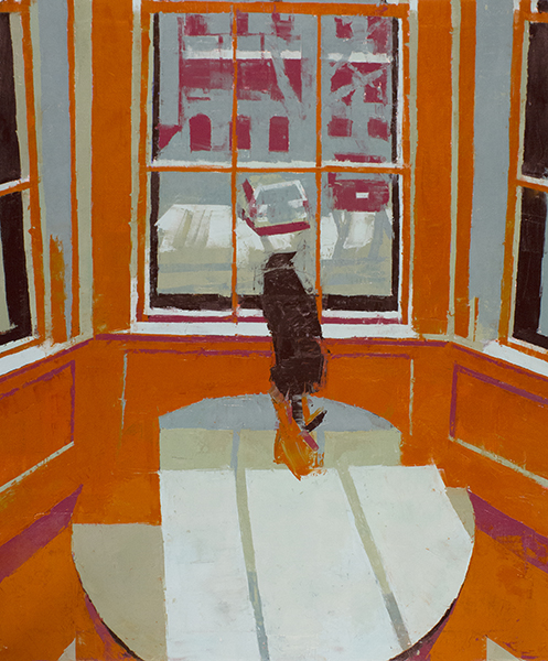 Rear Window, Warren Avenue -- 31 x 26, Oil on Linen