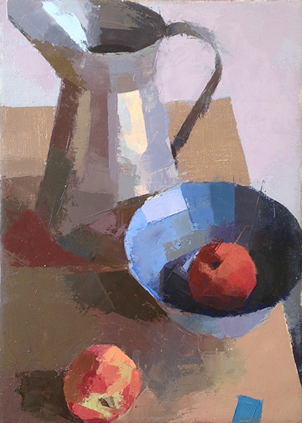 Thinking of Morandi -- 14 x 10, Oil on Linen