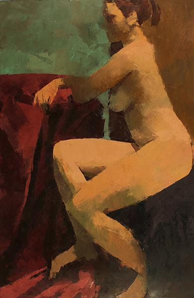 Kremena -- 32 x 22, Oil on Paper on Panel