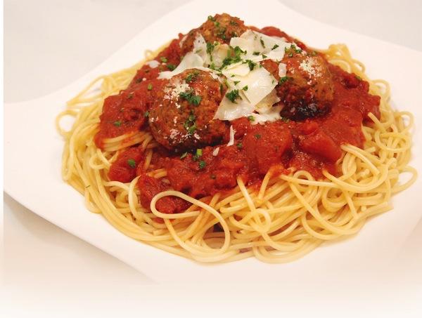 Retouched spaghetti