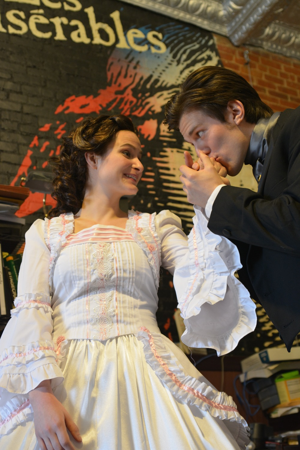Rebecca Rosky and Ethan Carpenter as Cosette and Marius