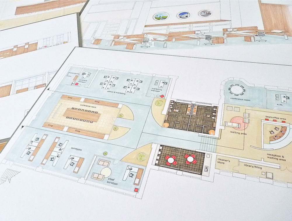 Office Space Plan and Interior Design | www.interiorsmatter.com
