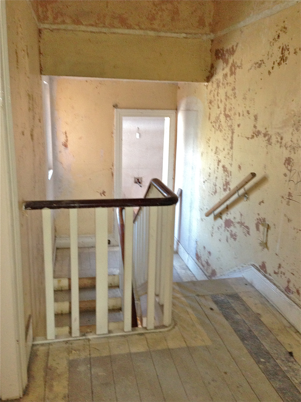 Staircase Mid-renovation | www.interiorsmatter.com