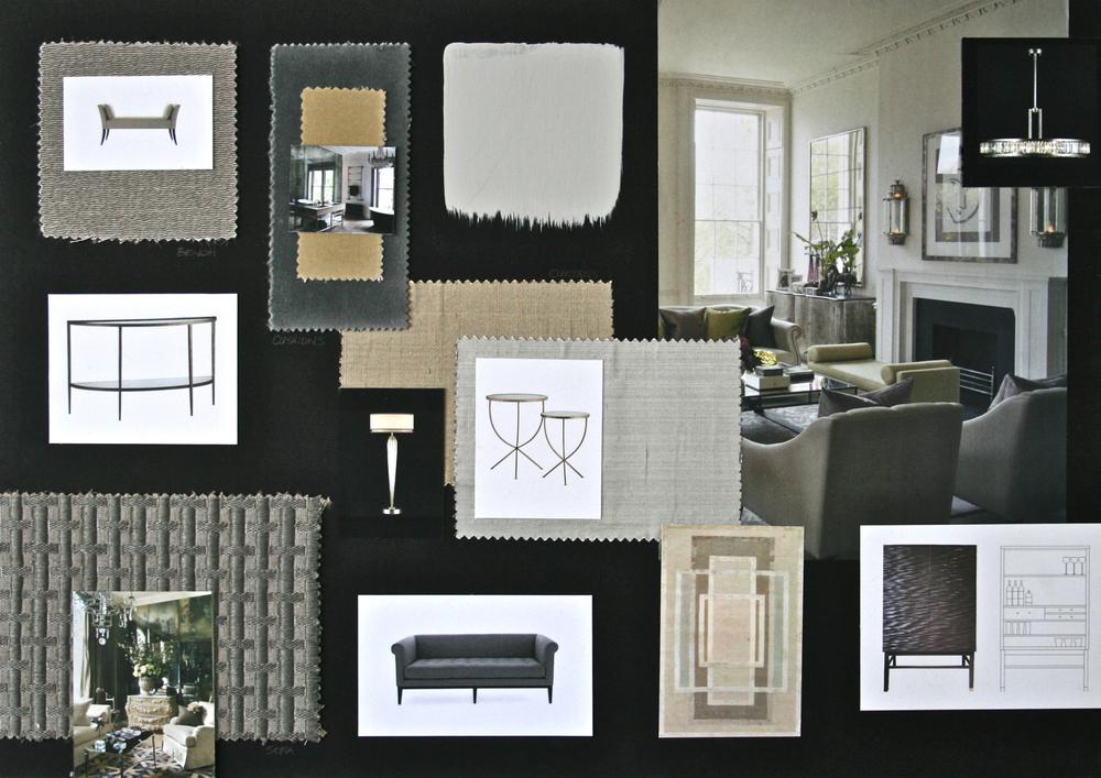 Living Room Design Board | www.interiorsmatter.com