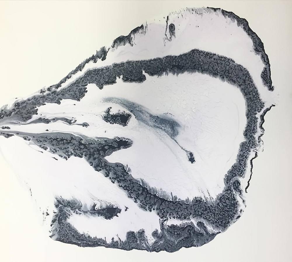 Yin Yang painting + time (at Art by Kamran Samimi)
