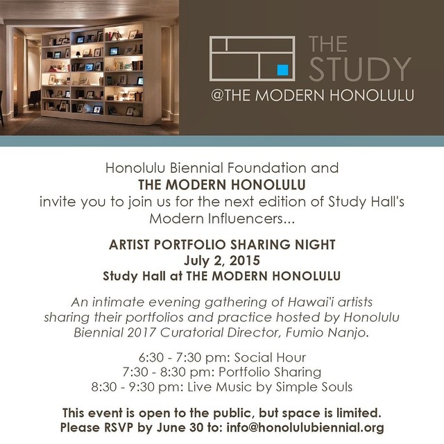 Excited to be among the artists presenting this Thursday for @honolulubiennial's event at The Modern. RSVP and join us!