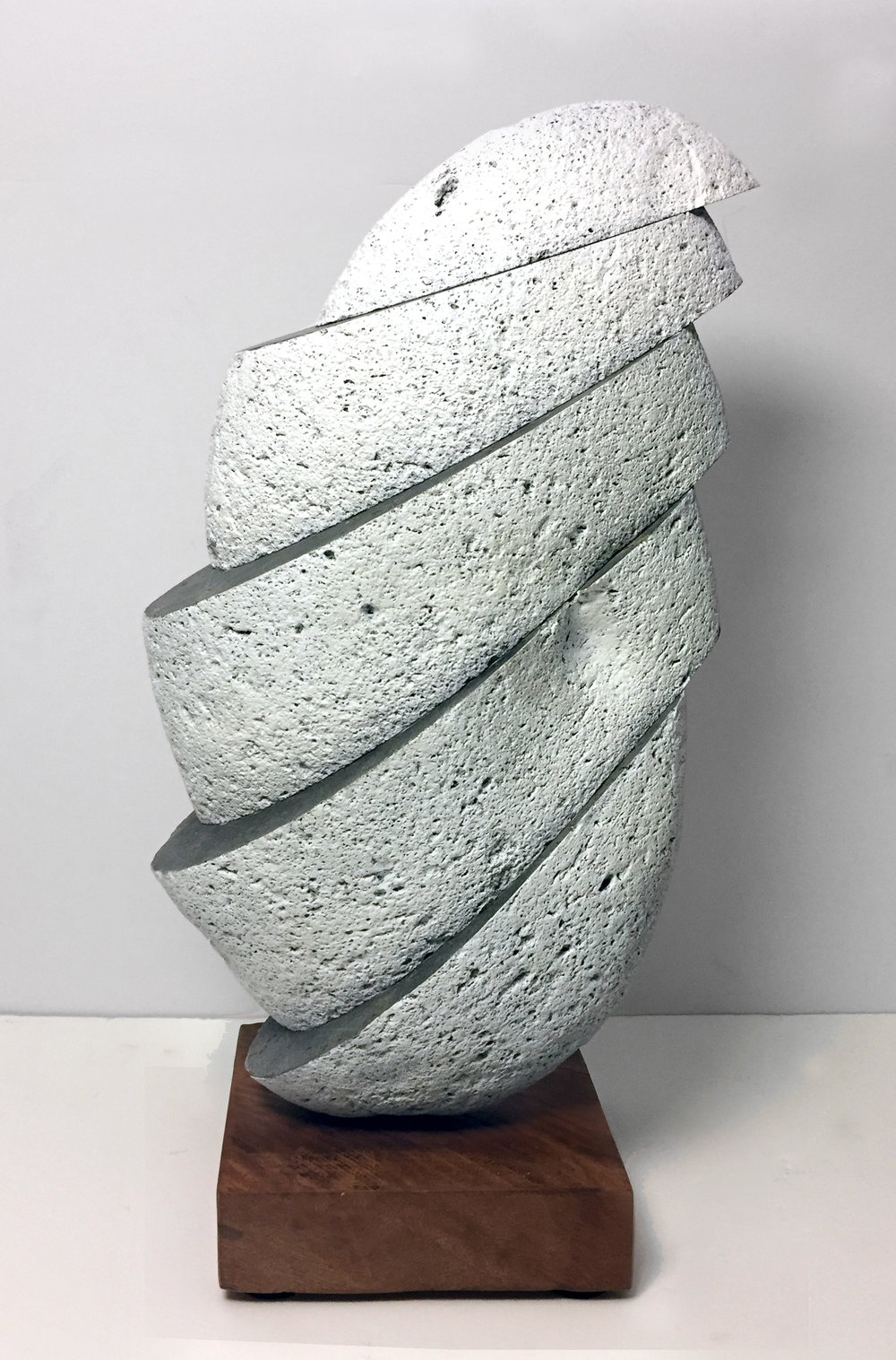 "$1300 - Whitewashed Stone, 18""x11""x5"", Basalt and Wood"