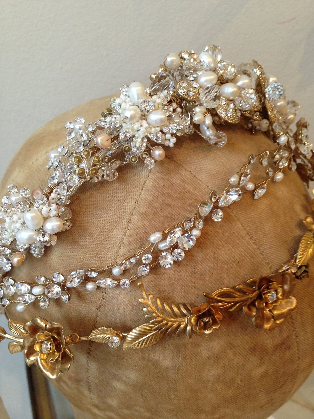 These beautifully decadent headpieces are just what you need to top off your look! From textured glitz and elegant sophistication to boho floral, we try to cover all the bases. These head pieces are by Twigs & Honey, Untamed Petals, and Mignonne Handmade.