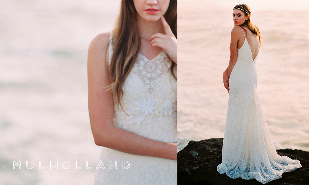 The V-back on Mulholland is ridiculously gorgeous. Brides on the hunt for a dramatic gown, your wishes have been granted!
