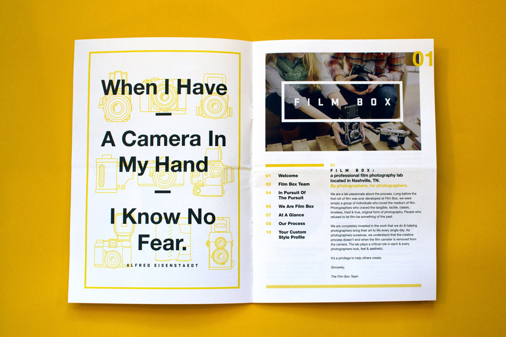 Editorial Design, Film Box, Spread One