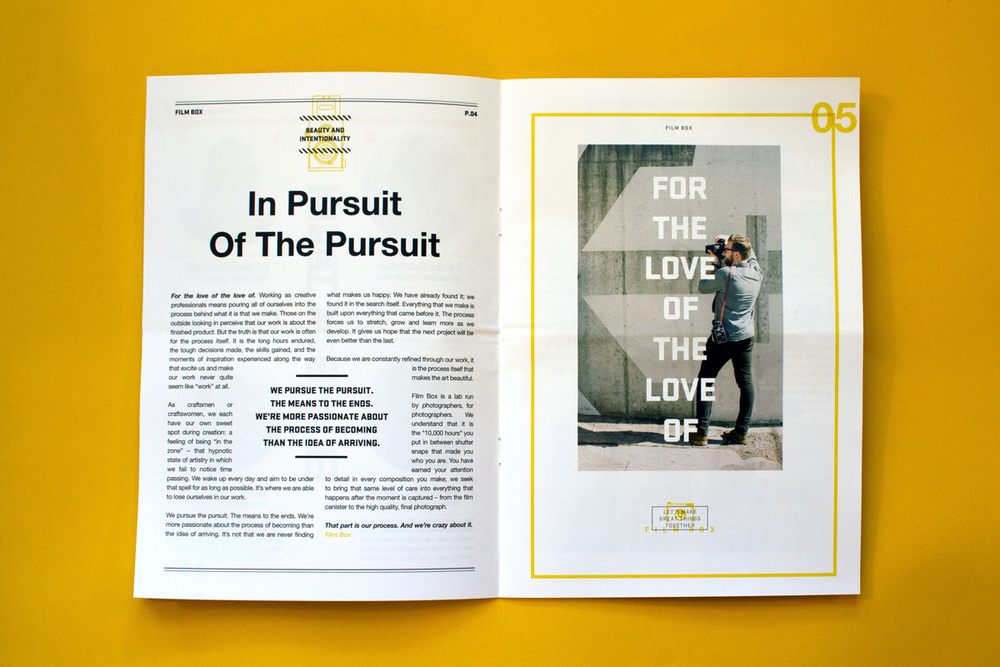 Editorial Design, Film Box, Article One