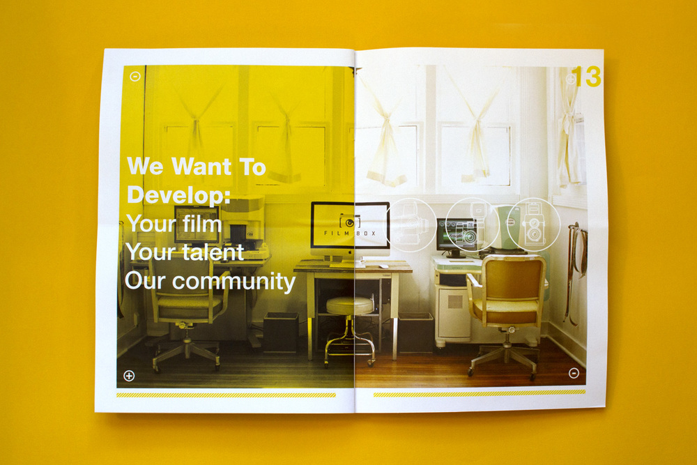 Editorial Design, Film Box, Full Spread Ad