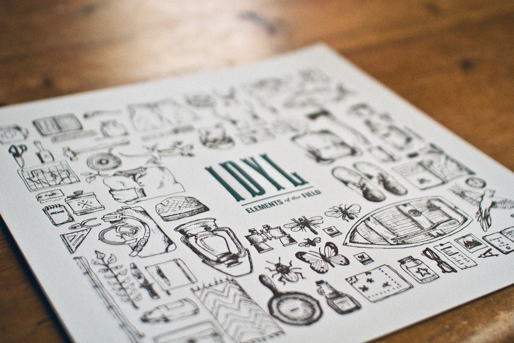 elements of the field letterpress illustrations