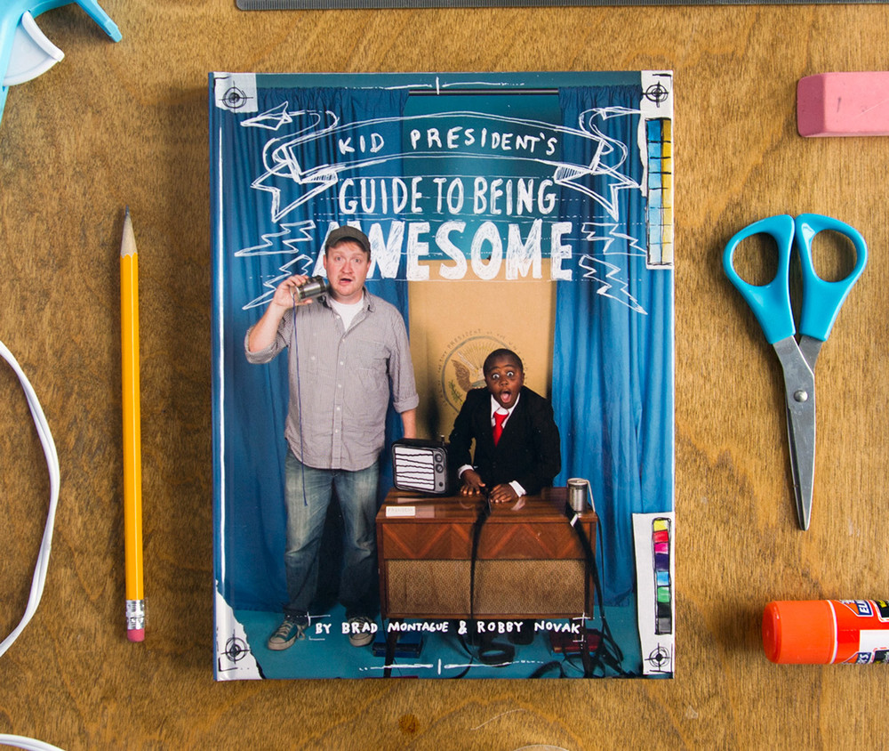 Kid President's guide to being awesome book hardcover illustration and design