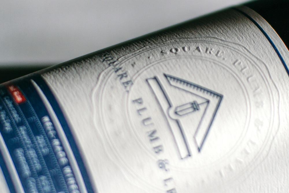 spl wine front label design detail