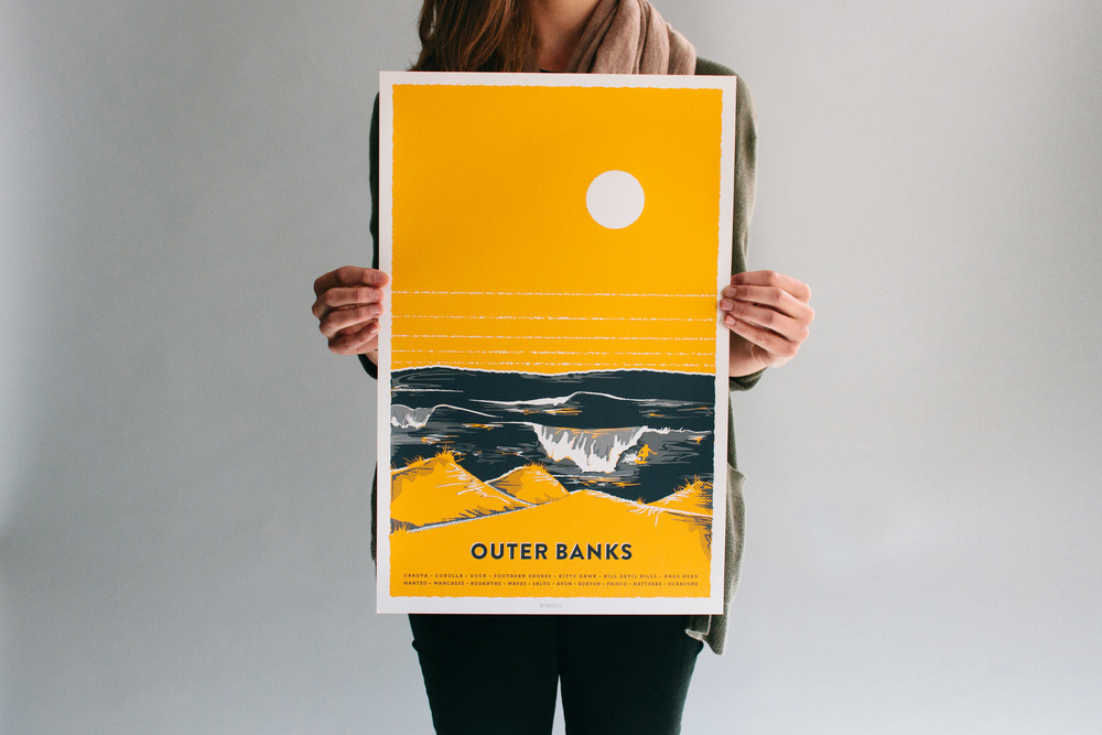 Gold yellow Outer Banks bearings guide illustration