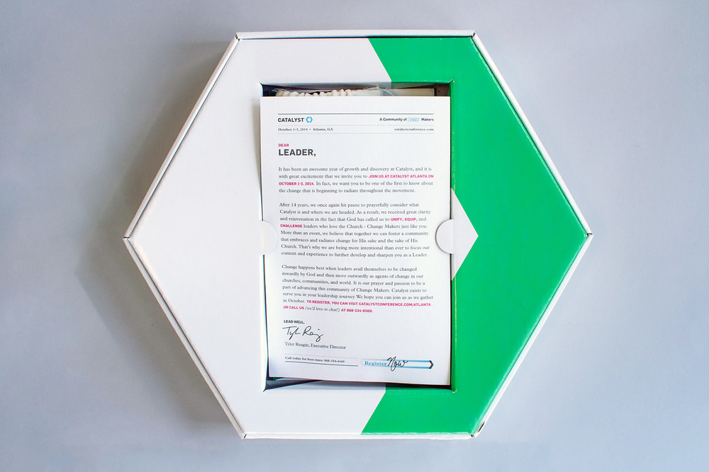 Tray insert that holds in the marketing collateral in the packaging design of the group leader box kit mailer.