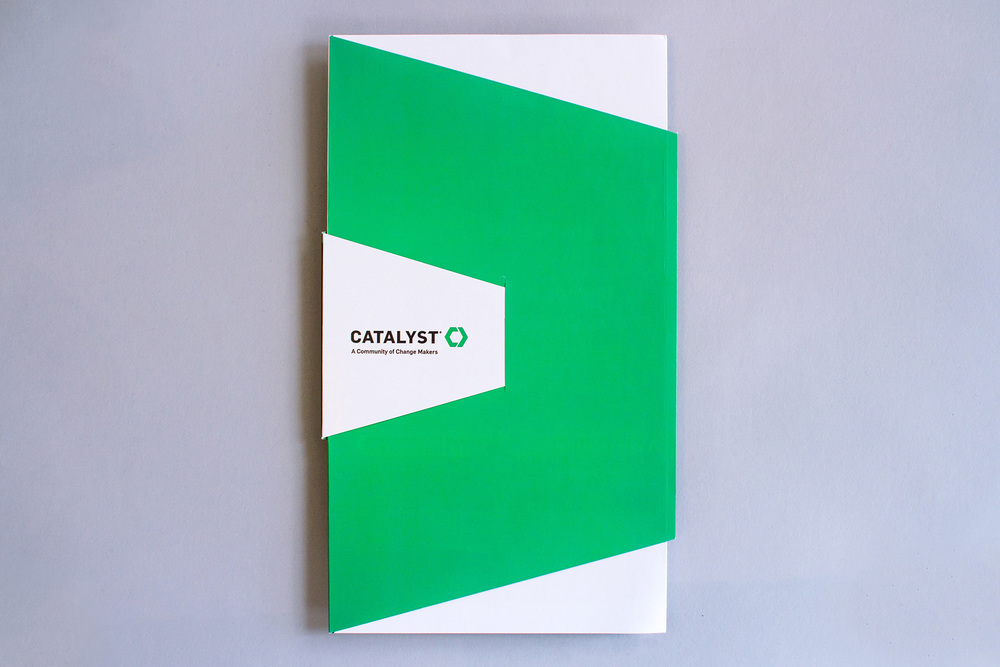 Cover design of the Catalyst Conference 2014 A Community of Change Makers marketing and promotional brochure.