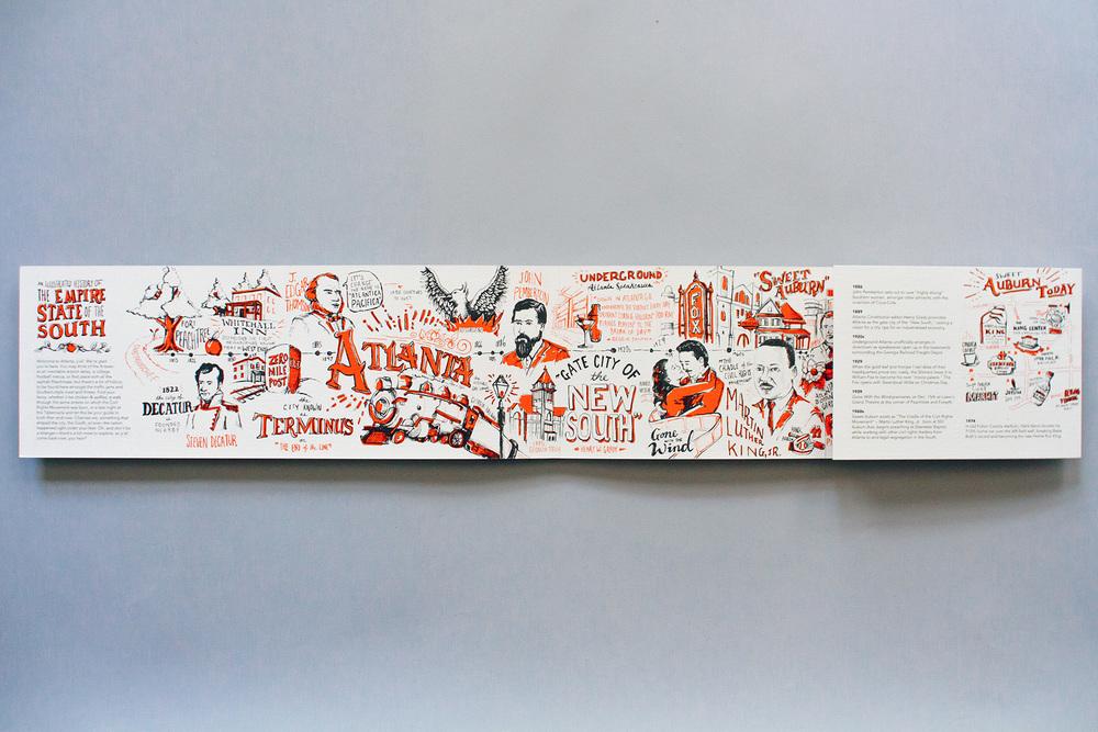 Neenah Paper Atlanta timeline print