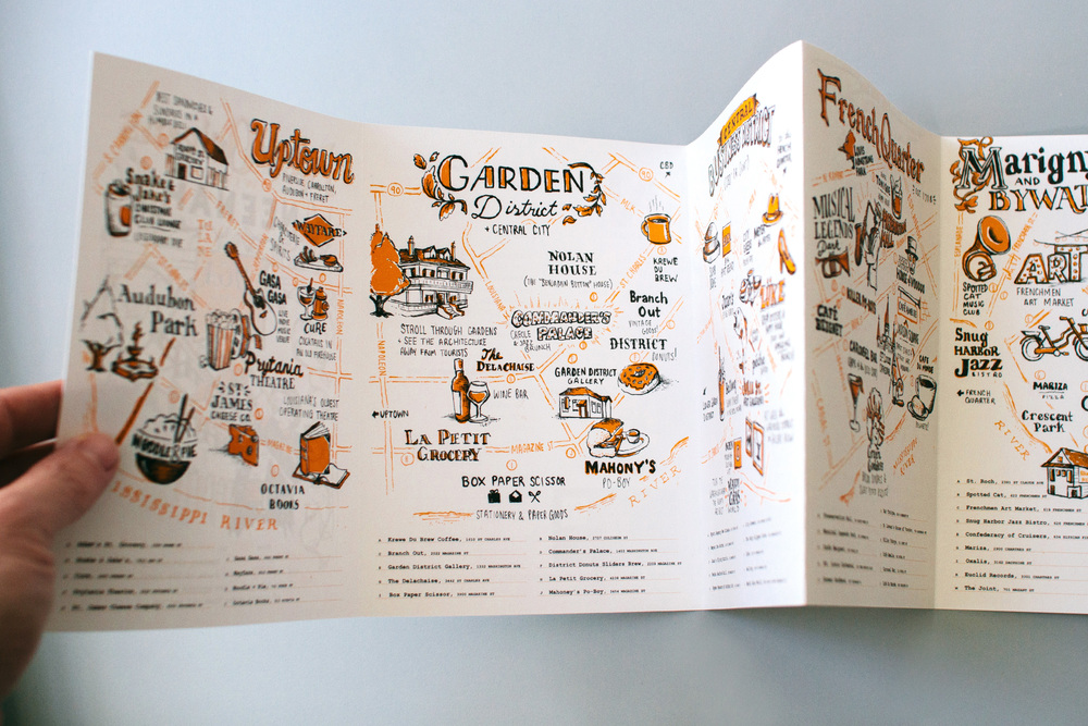 All panels of the new orleans illustrated city guides