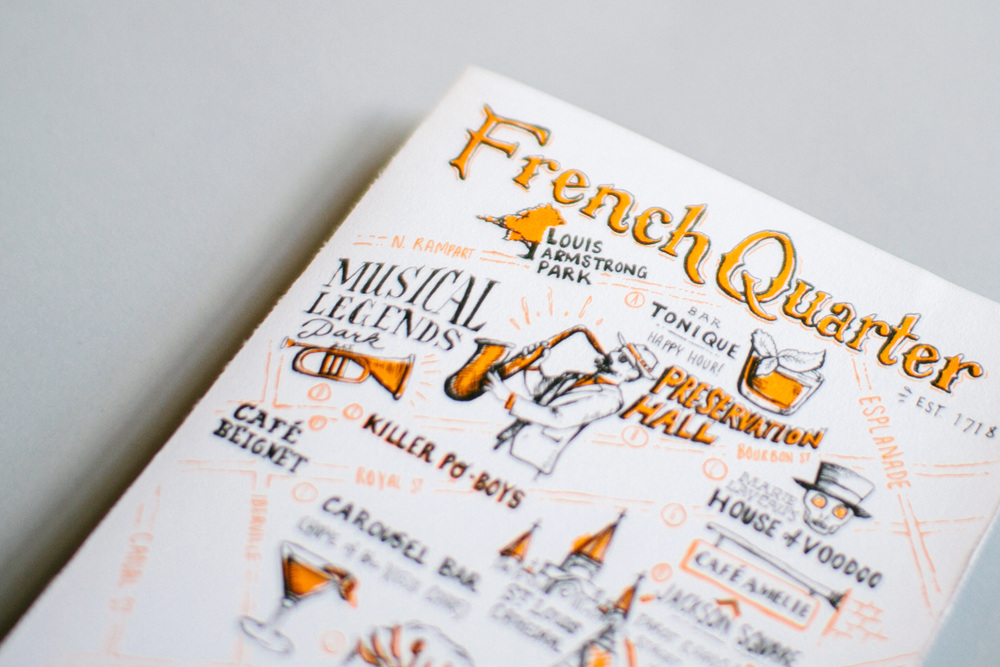 detail photo of French Quarter illustrated map