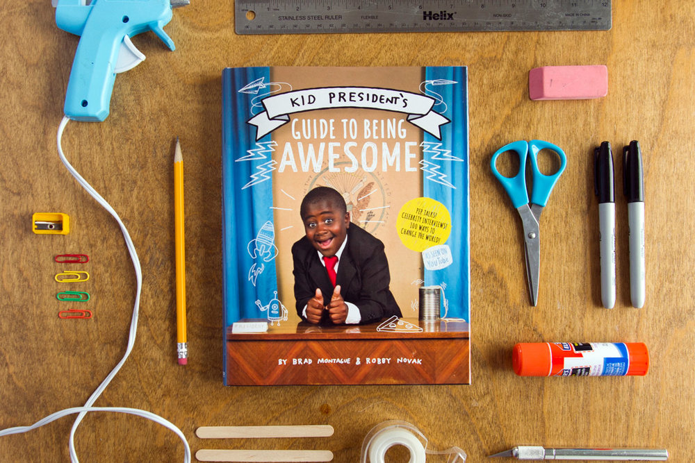 Illustration and graphic design for Kid President's guide to being awesome, new york times best-selling book