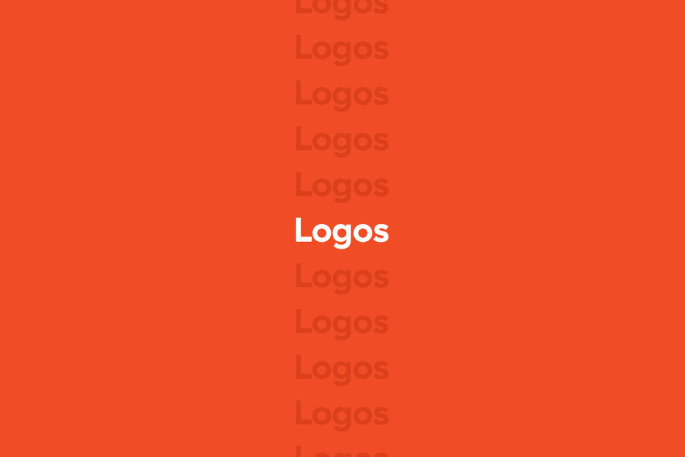 Collection of logos and brand marks designed by freelance designer and art director and illustrator Russell Shaw