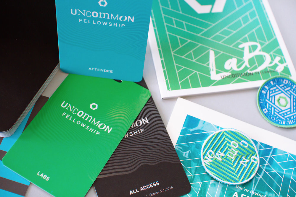 Art direction graphic design packaging for Catalyst Conference Atlanta 2016 theme Uncommon Fellowshi branding