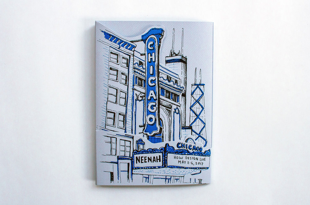 Neenah Presents Chicago, Cover Design