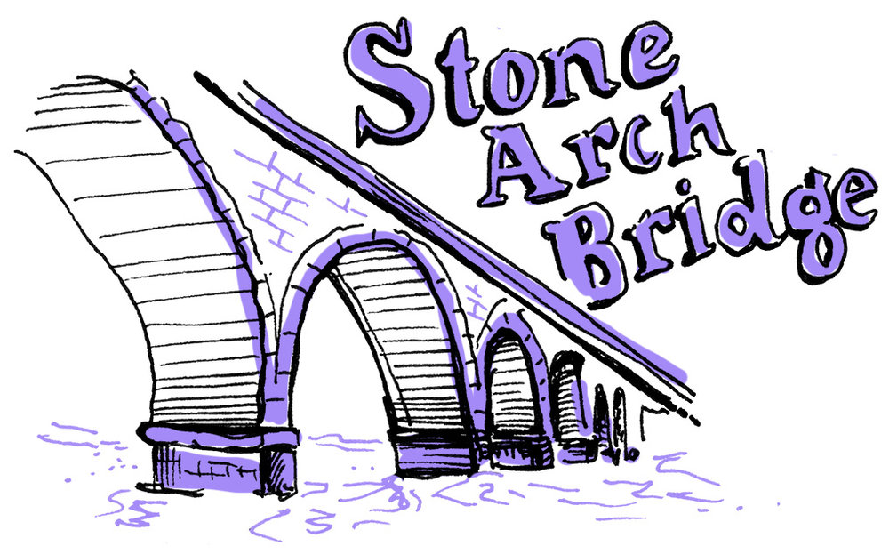 Minneapolis Stone Arch Bridge illustration