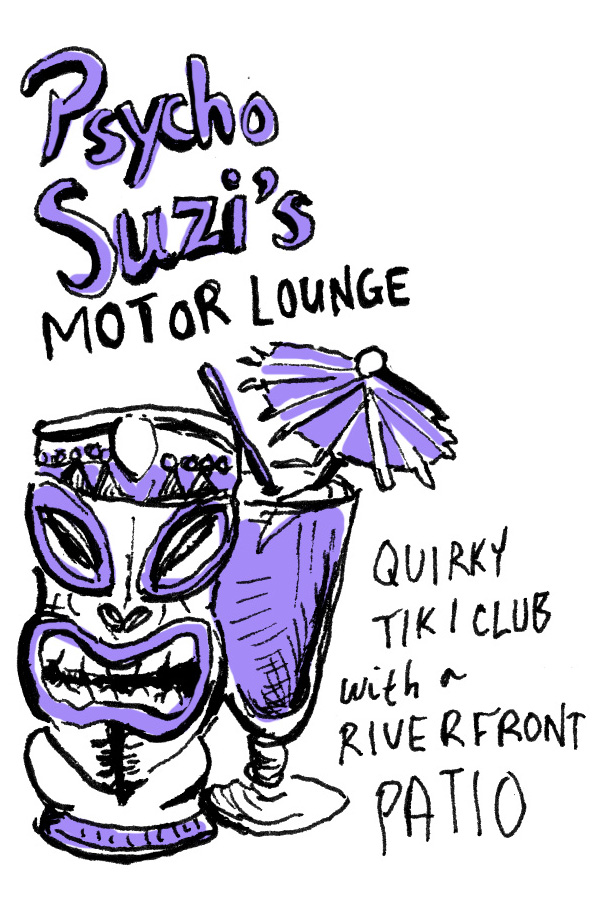 Psycho Suzi's Motor Lounge illustration