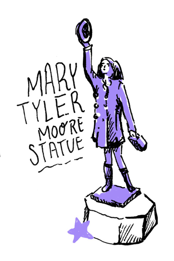Mary Tyler Moore Statue illustration