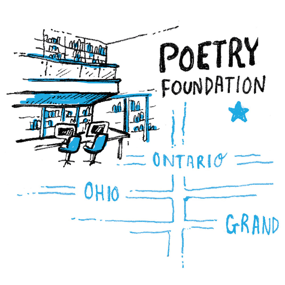 illustration of the Chicago poetry foundation