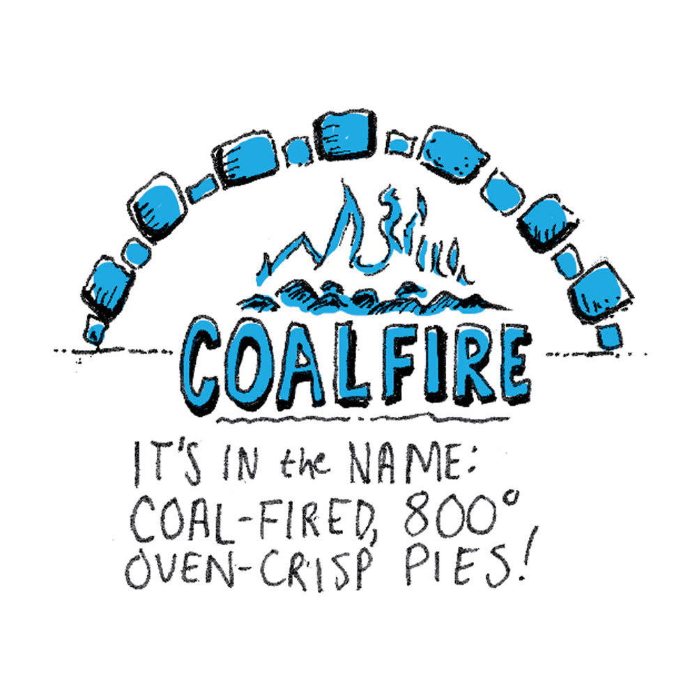 illustration of coalfire pizza chicago